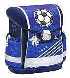 Belmil Ergonomischer Schulranzen Jungen 1. klasse 2. klasse 3. klasse - Super Leichte 900-960 g/Grundschule/Fußball Football Soccer/Blau (403-13 Soccer)