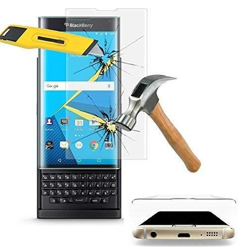 VCOMP Pack Packung Bildschirm-schutzfolien klar übersichtlich für BlackBerry Priv - 1 Folie gebogener Rand robust TRANSPARENT