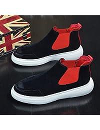 1858545160444 Lianaiec Botas de hombre Zapatos Altos Zapatos Casuales Zapatos Negros  Salvajes Otoño E Invierno 40 Negro