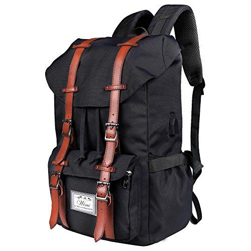 WIMI Rucksack,15 Einzigartige Eigenschaften Multifunktionaler Rucksack/Daypack, Große Kapazität Reisetasche, Top Rucksack Für Damen & Herren Upgrade-Version (Schwarz)