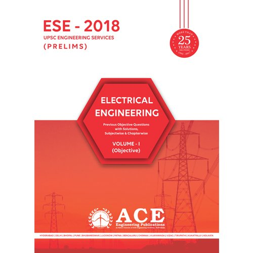 ESE 2018 Prelims Electrical Engineering Objective volume 1  available at amazon for Rs.525
