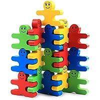Preisvergleich für Hukangyu1231 Babyspielzeuge, pädagogische Spielwaren der Kinder Wooden Balance Schurkenblöcke Kinder Kindergarten Lernspielzeug Farbe zu begreifen Creative Fun Kit Geschenk für Kinder Ages 3yr - 6yr