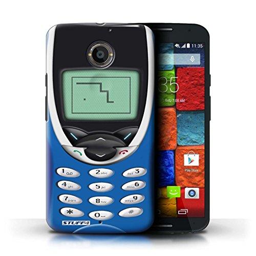 Kobalt® Imprimé Etui / Coque pour Motorola Moto X (2014) / Nokia 8210 noir conception / Série Portables rétro Nokia 8210 bleu