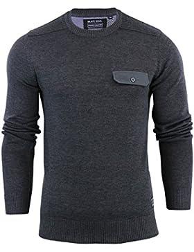 Para hombre Brave Soul 'persa' Knit Jersey cuello redondo de punto jersey Casual algodón Top