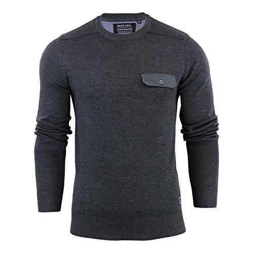 Brave Soul Herren Pullover Charcoal | Pocket
