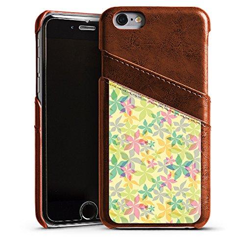 Apple iPhone 6 Housse Étui Silicone Coque Protection Printemps couleurs Motif Étui en cuir marron