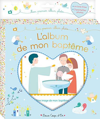 L'album de mon baptême - livre tissu par Virginie et Caroline
