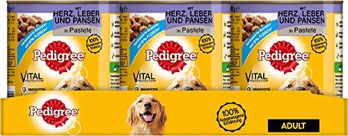 Pedigree Dose Adult mit Herz, Leber und Pansen, 12er Pack (12 x 800 g)