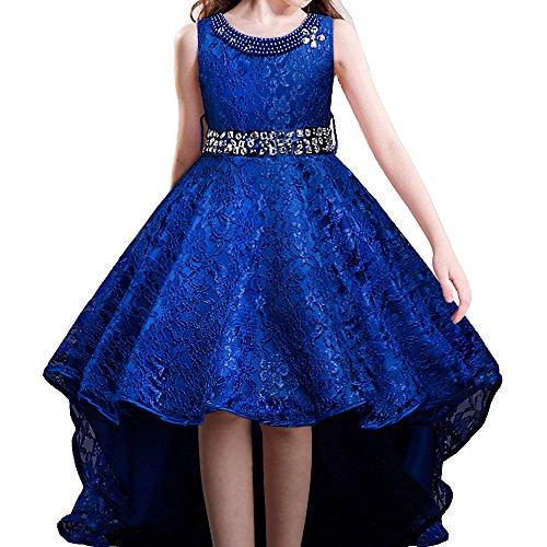 HUAANIUE Vestido de Niña de La Princesa Boda del Vestido de La Dama de Cola De Milano 5 Colores
