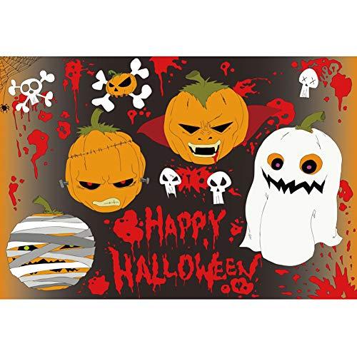 en Hintergrund Fröhliches Halloween Kürbis Geist Blut Skelett Hintergrund Halloween Party Fotografie Süßes oder Saures Kinder Party Banner Dekoration Porträt ()