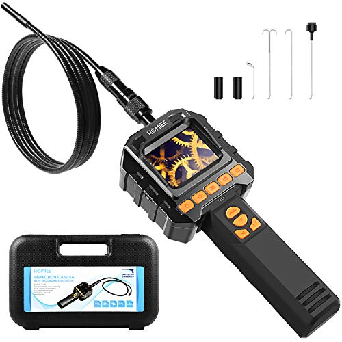 HOMIEE Hand LCD Endoskop Kamera 1 Meter, inspektionskamera,Flexible endoskopkamera Digitalesmit LCD Bildschirm und Videoaufnahme,8 Stufen LED Beleutung und 8mm Durchmesser