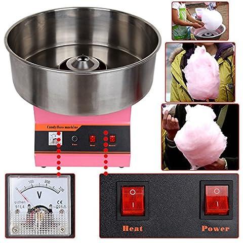 Ridgeyard électrique 1300W Commercial Cotton Candy Floss Maker Machine Party de cuisine Snack