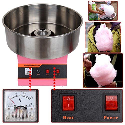 Ridgeyard 1300W Zuckerwattemaschine Zuckerwattegerät Zuckerwatte Maschine Candymaker OME Party Küche DIY Snack