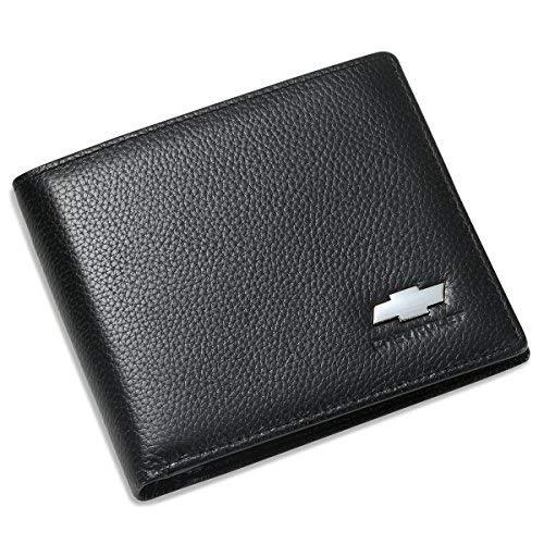 Chevrolet Klappgeldbörse mit 3 Kreditkartenfächern und Ausweisfenster, echtes Leder (Chevrolet Silverado Box)
