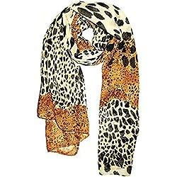 ZYCX123 Patrón Mujeres Bufanda del Leopardo de impresión de la Moda Bufanda del mantón Mantón Largo Suave(70 * 170cm)