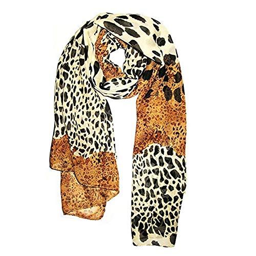 mi ji Joyería 70 * 170cm Mujeres Moda Animal Print Hombro Flecos Pashmina Bufanda del Abrigo Estampado Leopardo Bufandas Extrema Suave Chal para Cualquier estación 1PC