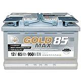 GoldMax AGM - 12 V / 85 Ah - 950 A/EN Autobatterie KFZ PKW Batterie