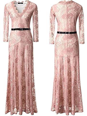 Babyonlinedress Elegant Robe de Soirée/Bal/Cérémonie Longue au sol avec Col