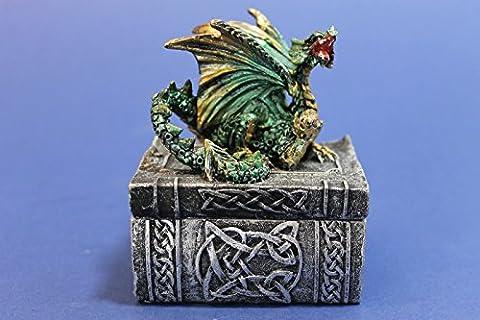 Nemesis Now Gothic Dragon on Book Box - Dragon Knowledge Keeper Trinket Box
