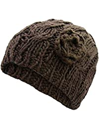 6462df8593a3fb Cable Knit Beanie Hat Chunky Knit Winter Cute Popular Hat Womens UK Seller  New