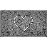 Nicoman HART reliëf vorm deurmat Dirt-Trapper wasbare barrière deurmat - (gebruik binnen of beschut buiten) - (75x44cm/29,5x1