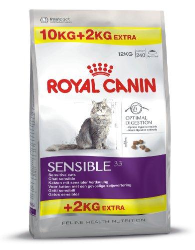 Royal Canin Feline Sensible 33, 10 + 2 kg gratis, 1er Pack (1 x 12 kg Packung)