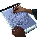 iBaste Leuchttisch A4 ultradünne Tragbare LED Artcraft Tracing Leuchtkasten USB Power Cable Dimmable Helligkeit Tattoo Pad Animation, Skizzieren, Entwerfen