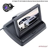 Autoxygen Car 4.3 inch Rear View Full HD Foldable Dashboard Screen And 8 LED Night Vision Waterproof Reserve Parking Camera