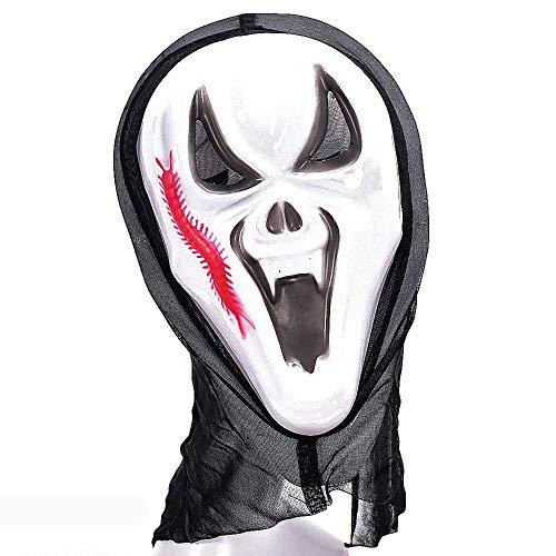 loween Kostüm Horror Party Zubehör Scary Party Gesichtsmaske ()