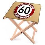 Lustapotheke® Klapphocker aus Holz zum Geburtstag für 60 jährige mit Wunschname - Altersruhesitz -
