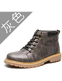 Chaussures pour Hommes Bottes Chaussures Haute All-Match,gris,44. Escalade HL-PYL-Martin