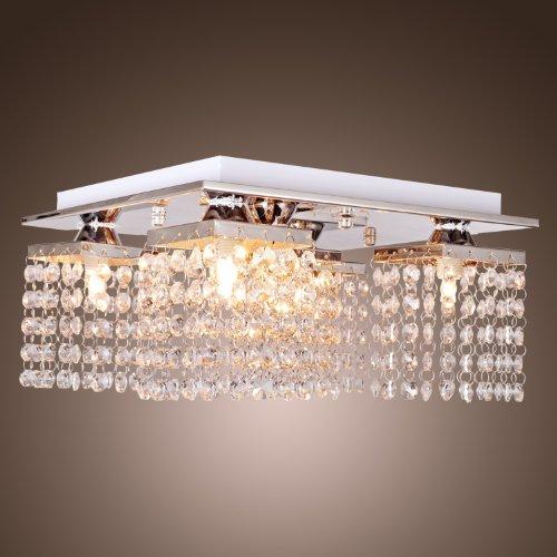 LightInTheBox® Kristall Deckenleuchte mit 5 Leuchten Chrom, Modern Flush Mount Deckenleuchten Befestigung für Flur, Schlafzimmer, Wohnzimmer mit Glühbirne enthalten