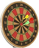 #10: Wood-O-Plast 16-inch Dart Board Set