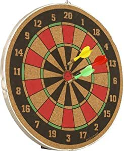 Wood O Plast 14-inch Dart Board Set, Multi Color