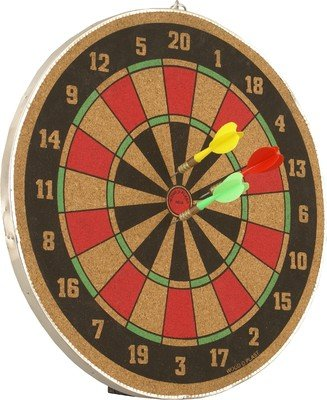 Wood O Plast 12-inch Dart Board Set, Multi Color
