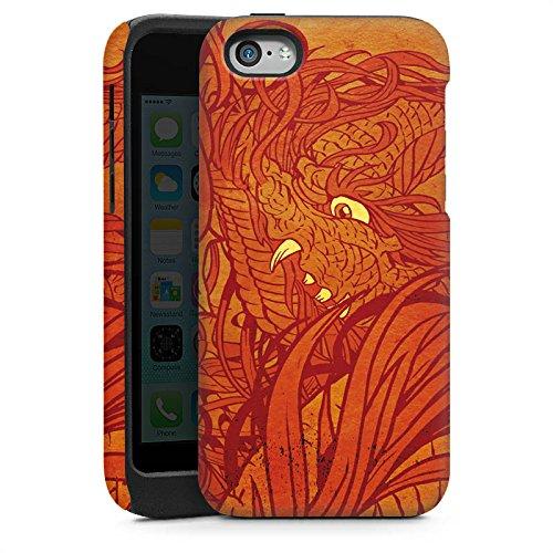 Apple iPhone 4 Housse Étui Silicone Coque Protection Motif Motif Orange Cas Tough brillant