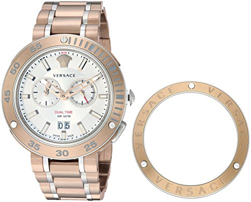 Versace Men's 'V-Extreme Pro' Quartz Stainless Steel and Gold Plated Casual Watch(Model: VCN050017)