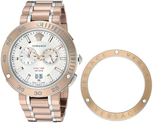 VERSACE uomo 'v-extreme Pro' quarzo in acciaio INOX placcato in oro e casual Watch (Model: VCN050017)