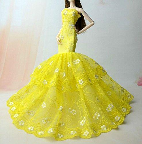 AK010 Abendkleider: Schöne und modische Handgefertigte Puppe Kleidung/ Kleid Rock(Puppen nicht im Lieferumfang enthalten) (schwarz 1) (Rock Die Rockstar-braut)