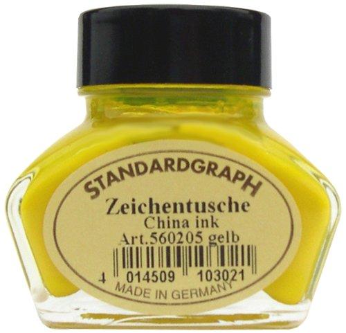 Tusche gelb 30ml Glas