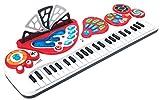 Winfun 49 Tasten Kinder Keyboard Piano 8 Instrumente mit Licht Aufnahme uvm