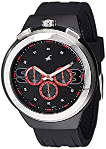 Fastrack Chronograph Black Dial Men's Watch - 38002PP02
