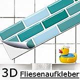 5 pezzi set 27,9 x 4,3 cm adesivo per piastrelle zecca mattoncini I piastrelle autoadesive 3D piastrelle da cucina piastrelle autoadesivo bagno muro adesivo piastrelle decor foglio Grandora W5417