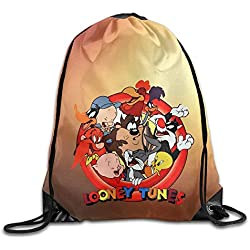 Etryrt Mochilas/Bolsas de Gimnasia,Bolsas de Cuerdas, Drawstring Tote Backpack Bag Looney Tunes Bugs Bunny