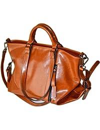 Amazon.it  borse in pelle - Marrone   Donna   Borse  Scarpe e borse 91dc63b905c