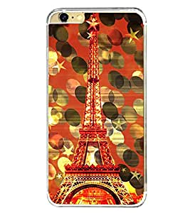 Fuson Eiffel Tower New York Designer Back Case Cover for Apple iPhone 6S (Abstact Art Paint Painting Illustrations)