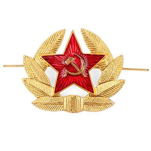 Original UDSSR Russland Rote Armee Army Officers Uschanka Mütze Original-Logo-UdSSR-Militär-Mütze