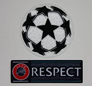 UEFA Champions League & RESPECT Applique (Thermocollant / Transfert) Iron-on Patch