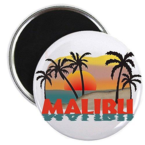 CafePress-Malibu Beach California Souvenir Magnet-5,7cm rund Magnet, Kühlschrank Magnet, Button Magnet Stil
