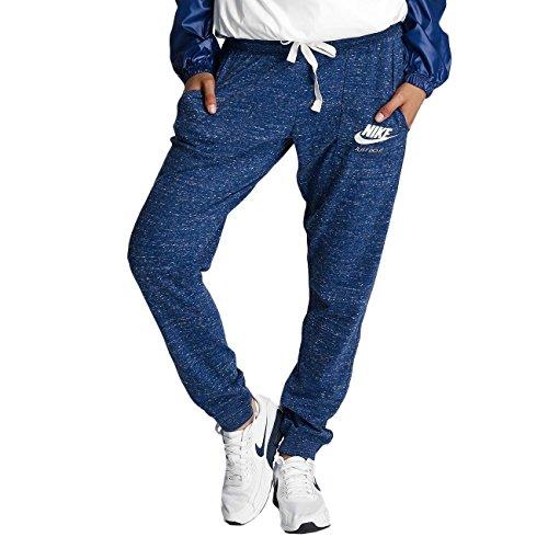 Nike W NSW Gym VNTG Hose, Damen S Blau (Binärblau / Segel)